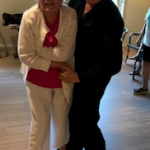 Mary enjoyed dancing with Joe the Ballroom Dancer and she new all the steps.