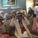 The residents put their cowboy hats on.